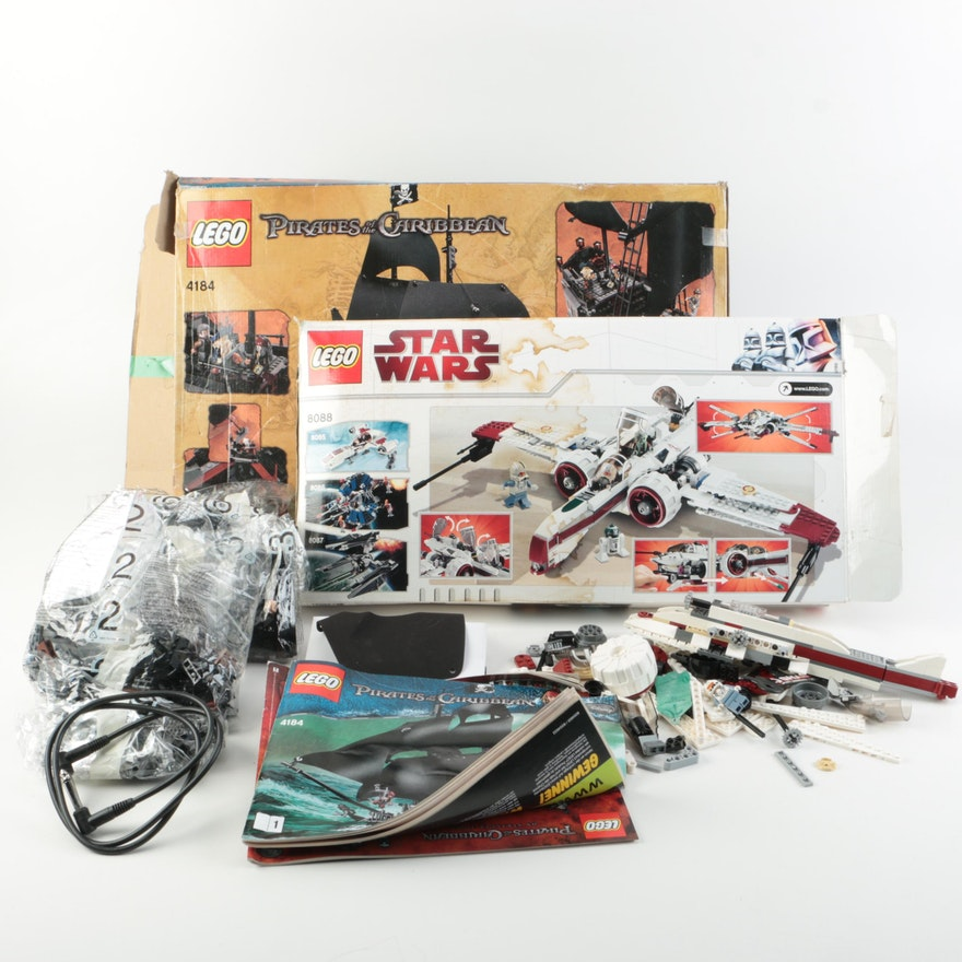 Star Wars And Pirates Of The Caribbean Lego Box Sets Ebth