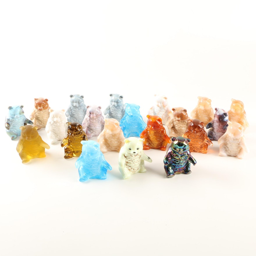Mosser Glass Bear Figurines
