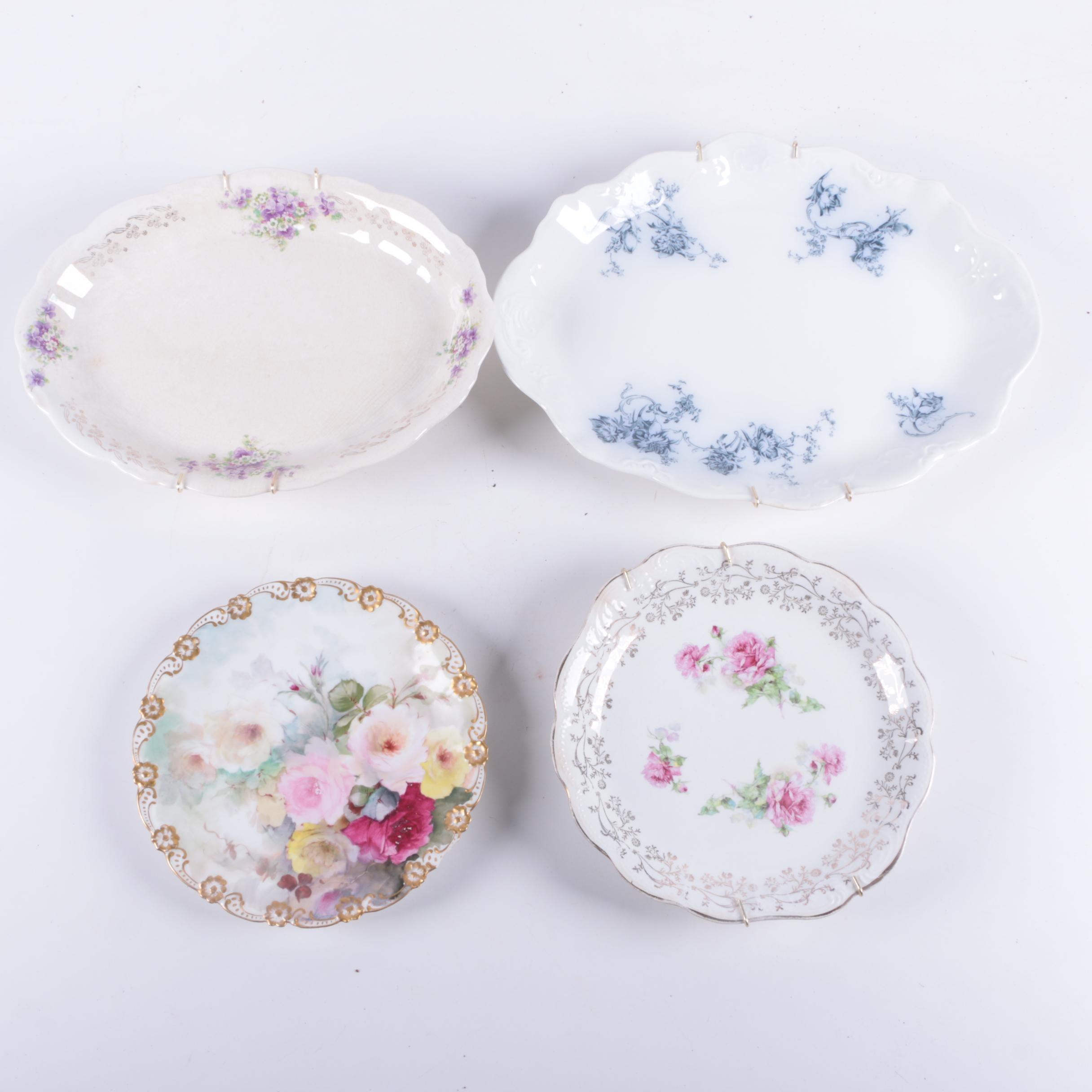 Antique Hand-Painted Porcelain Plates