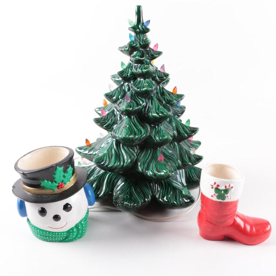 vintage ceramic christmas decor - Ceramic Christmas Decorations