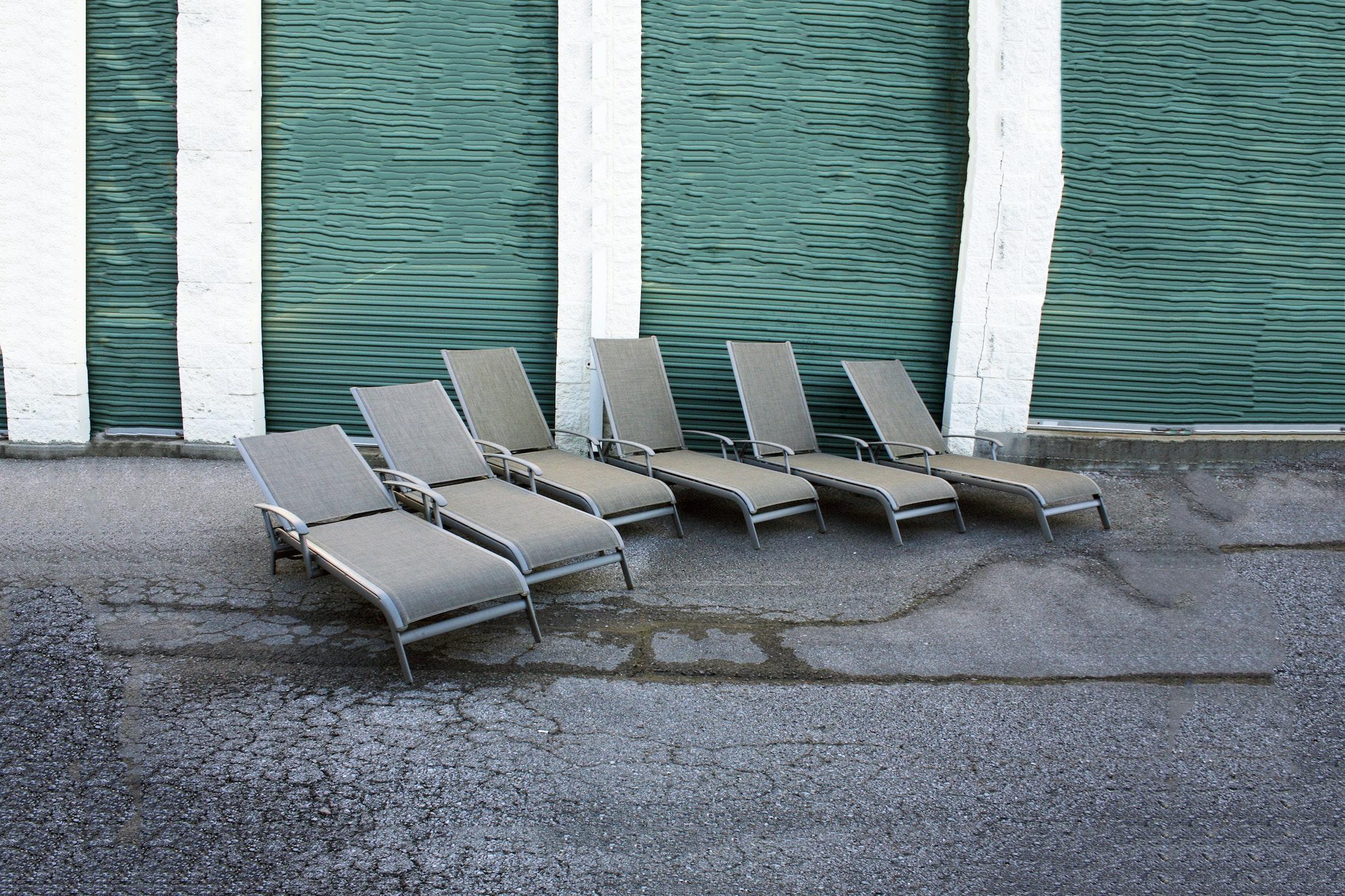 Sunbrella Metal Outdoor Loungers