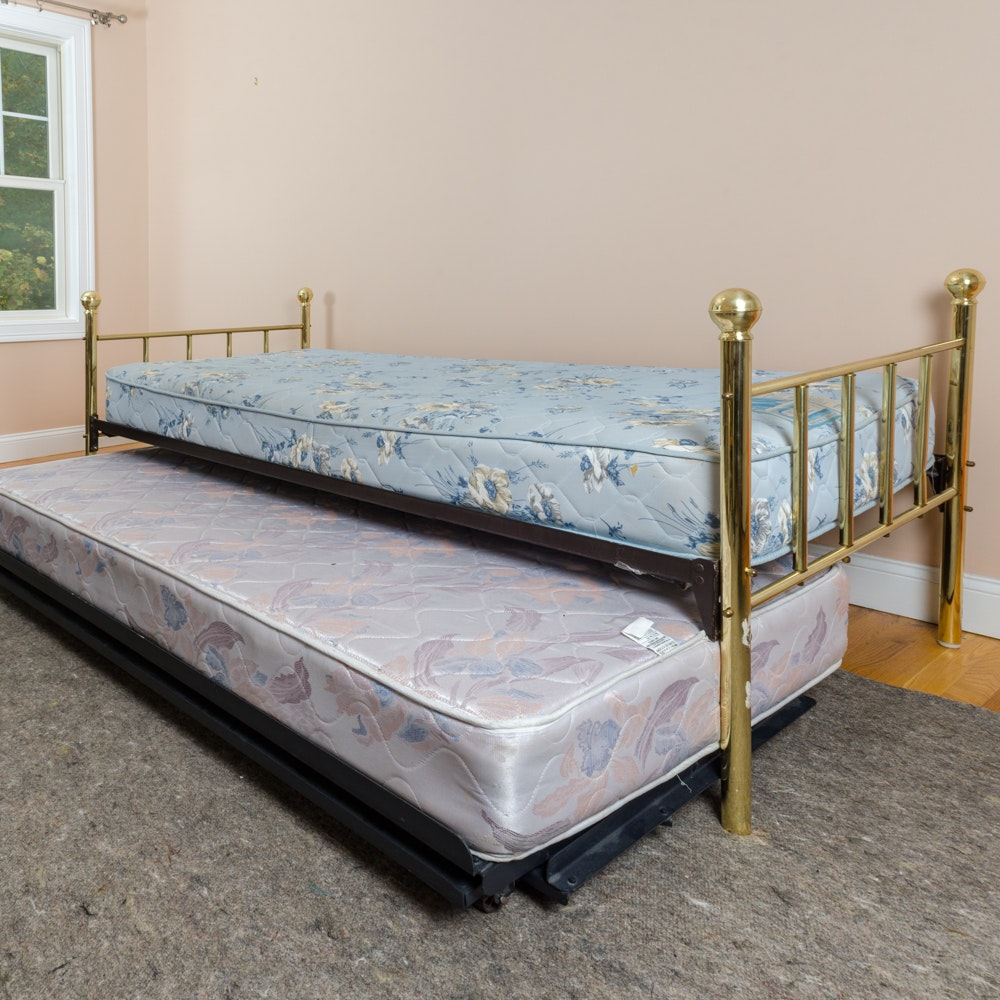 What Size Mattress Fits A Trundle Somerset Espresso Finish Twin Full Size Bunk Bed W Trundle