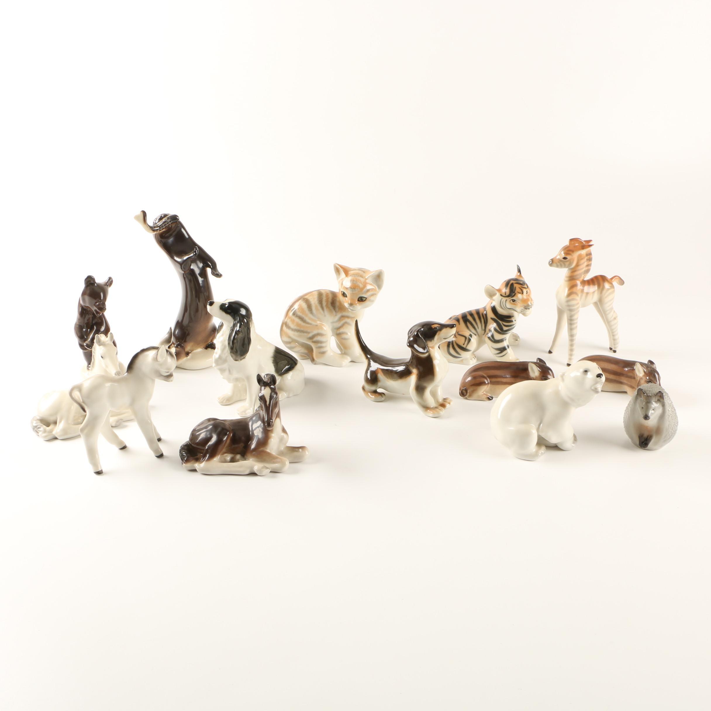 Collection of Lomonosov Russian Figurines