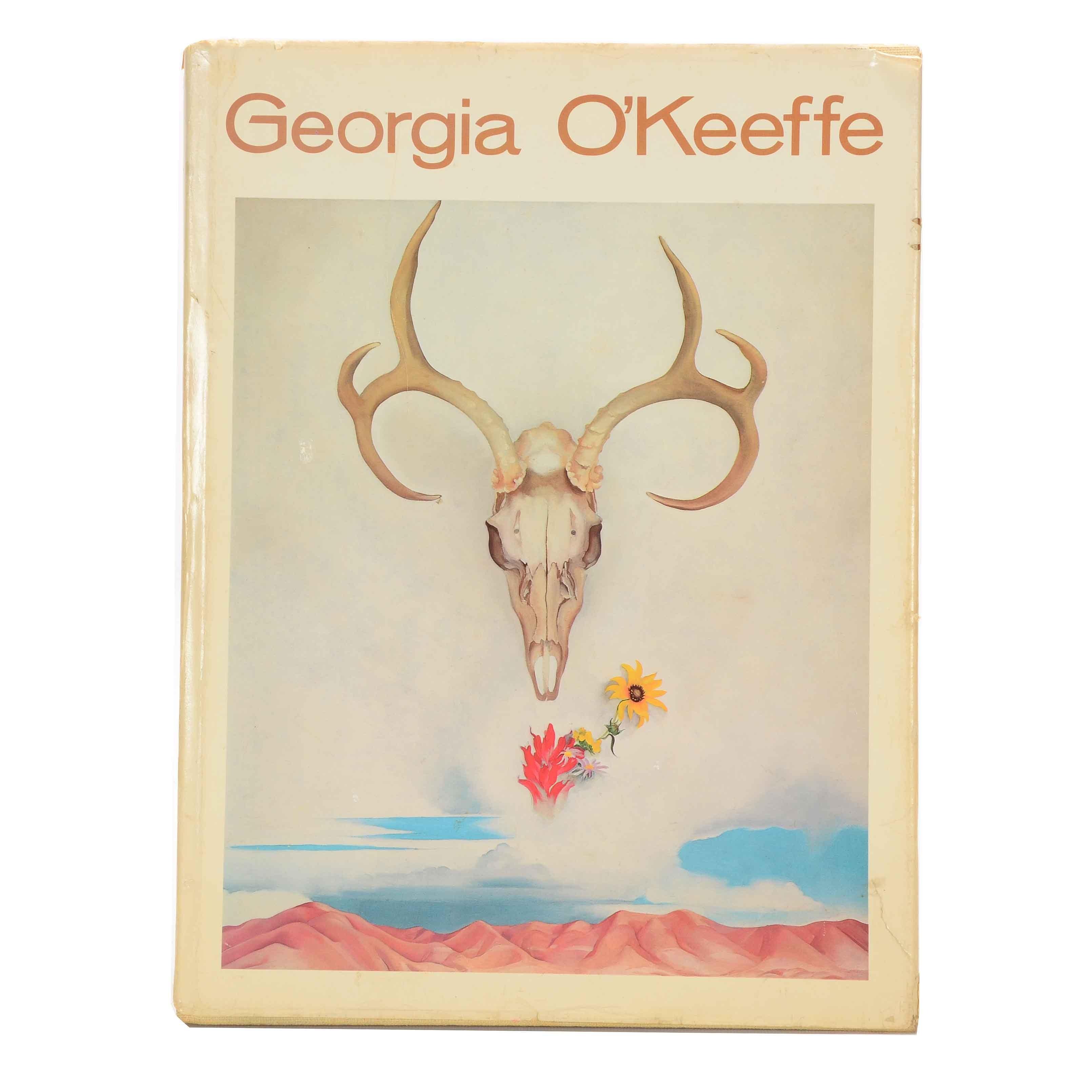 "1976 First Edition Hardcover ""Georgia O'Keeffe (A Studio Book)"""