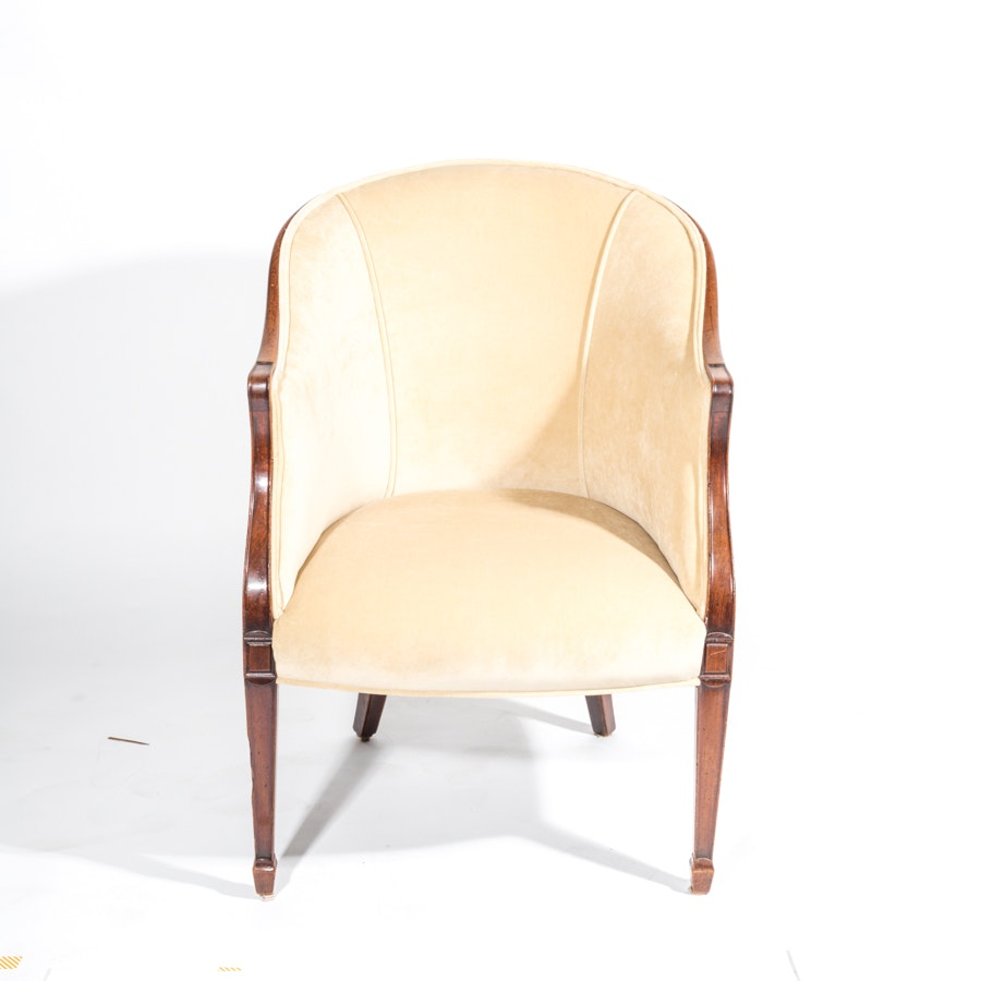 Hepplewhite Style Barrel Back Chair