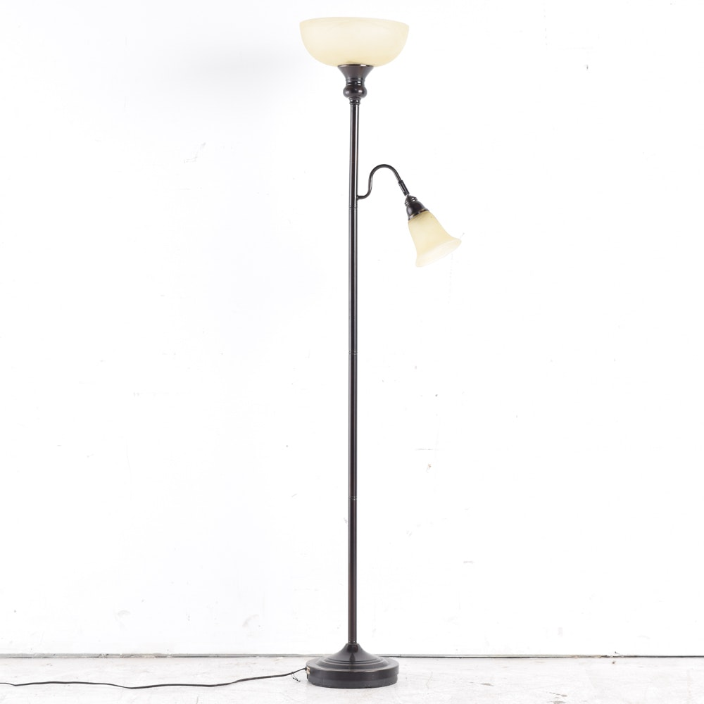 Floor Lamp with Frosted Glass Shades