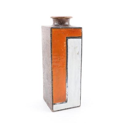 Hand Built Stoneware Bottle Vase