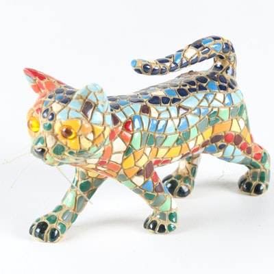 Mosaic Cat Figurine