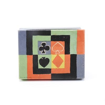 Simultane Bridge Playing Cards Designed by Sonia Delaunay