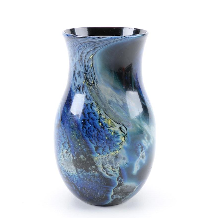 Vintage Josh Simpson Art Glass Vase