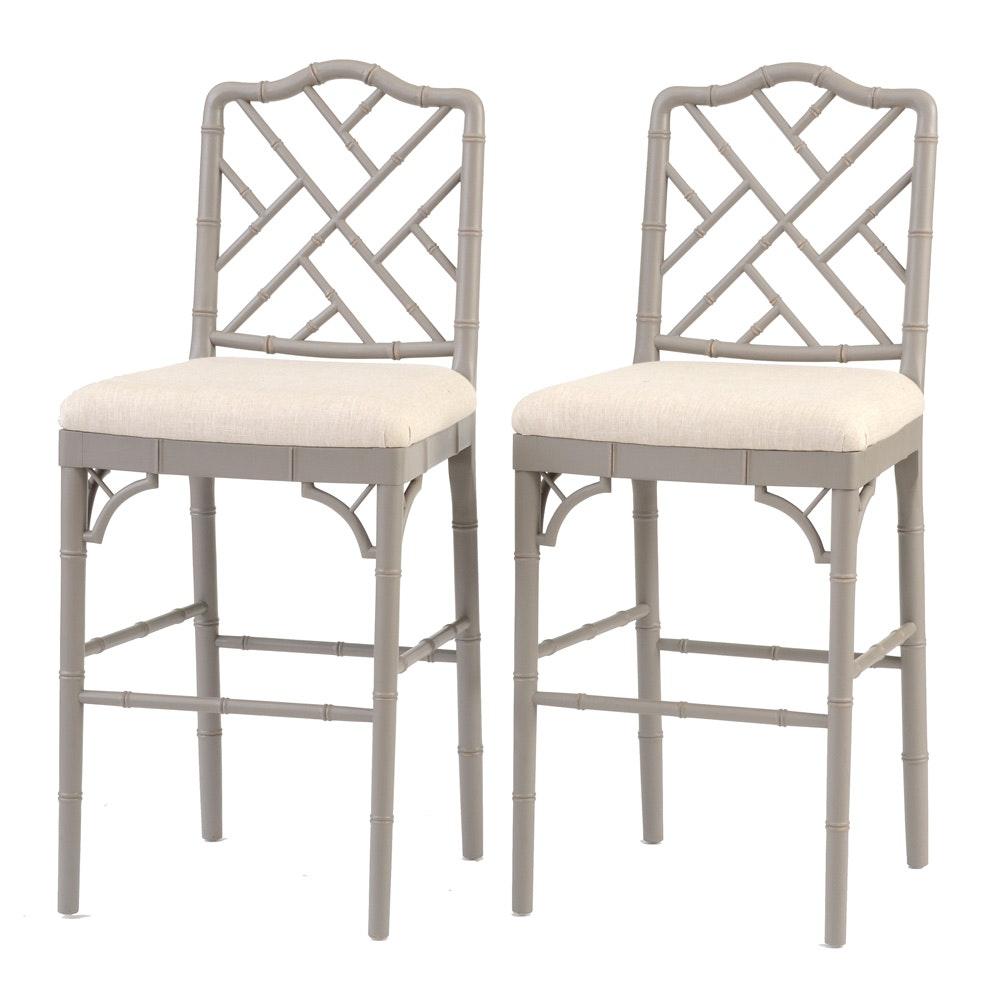 "Ballard Designs Stools ballard designs chinese chippendale style ""dayna"" bar stools : ebth"
