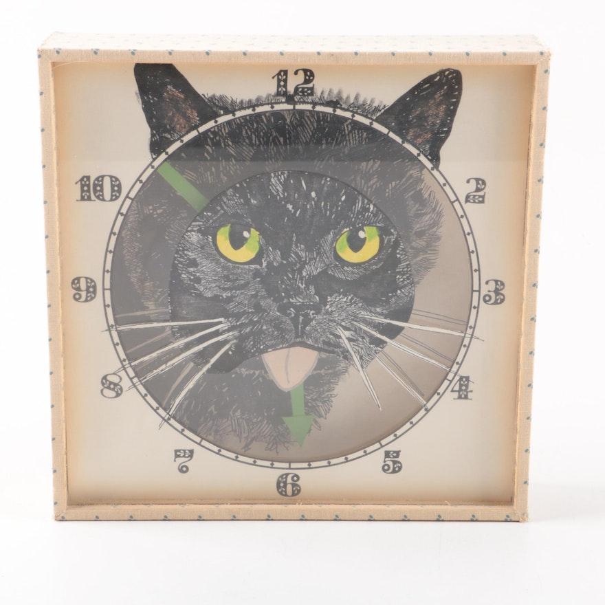 Handmade Wall Cat Clock