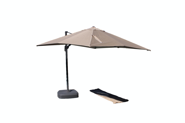 Sunbrella Outdoor Umbrella with Base and Cover