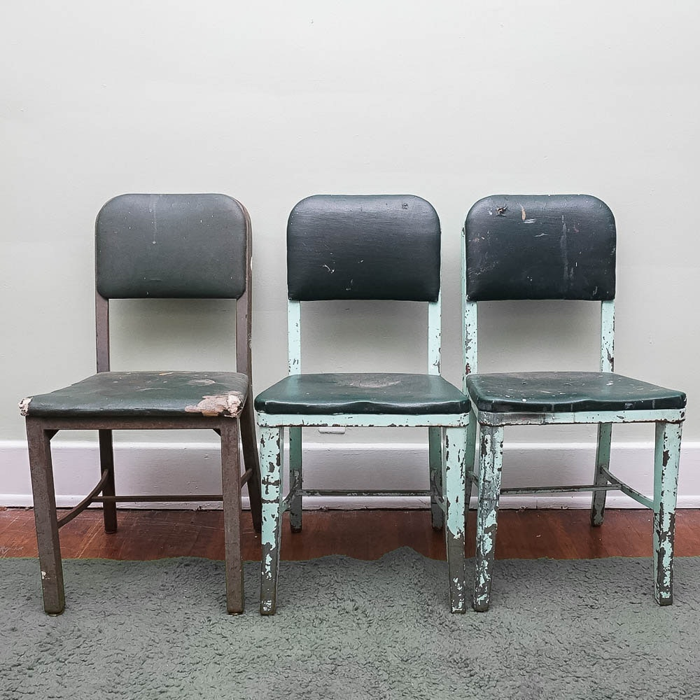 Vintage 1940s Industrial Style Chairs