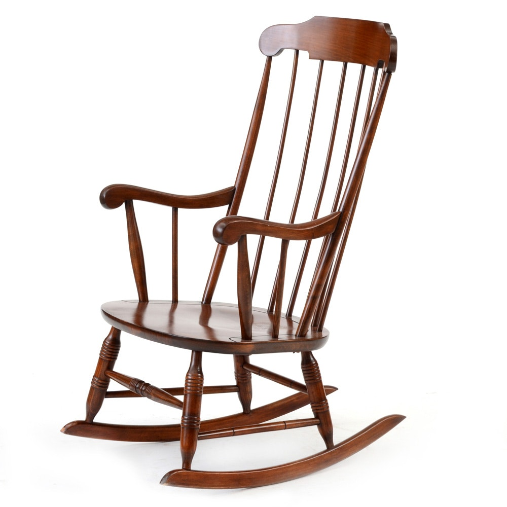 Windsor Style Rocking Chair Ebth