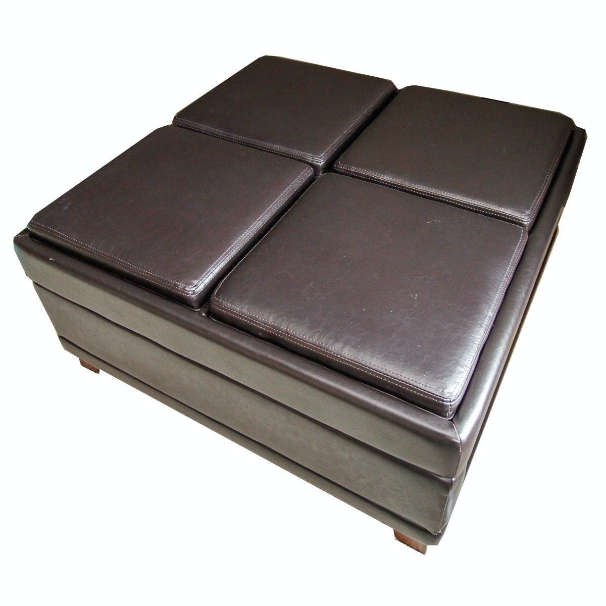 Leather Storage Coffee Table