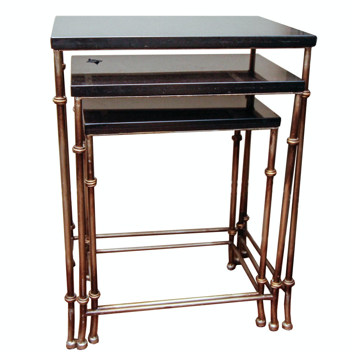 Stone Top and Brass Nesting Tables