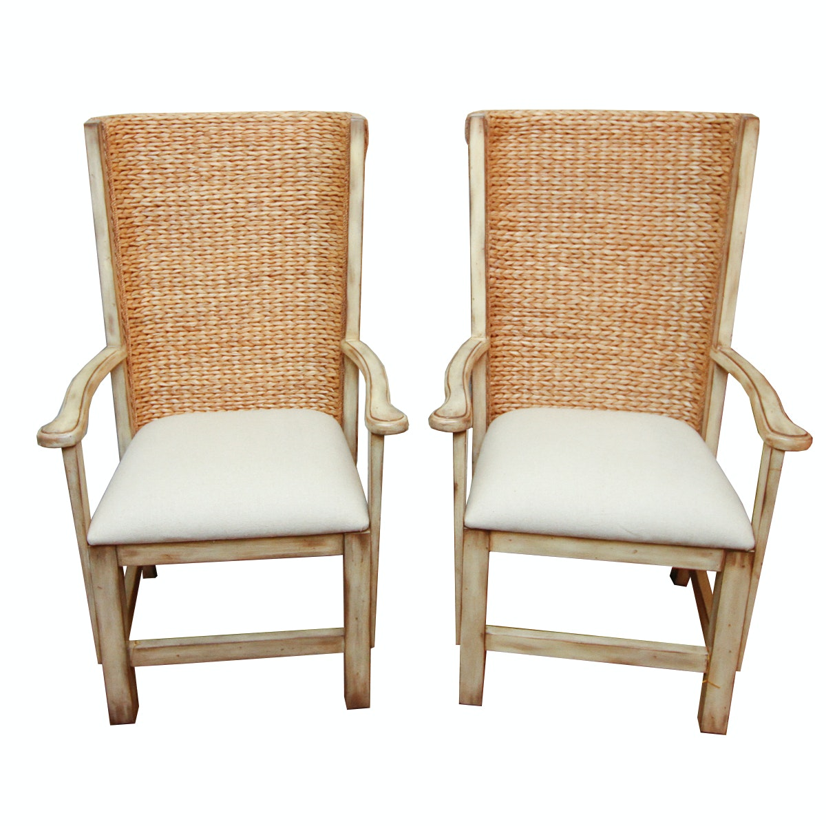 Hooker Furniture Wicker Back Armchairs
