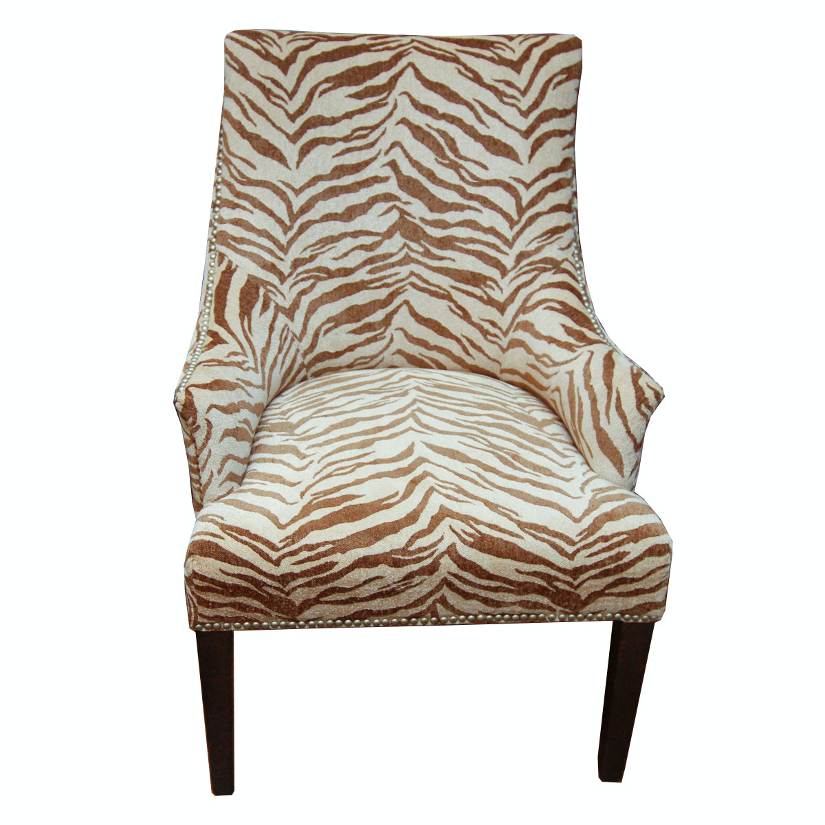 Hollywood Regency Style Upholstered Armchair