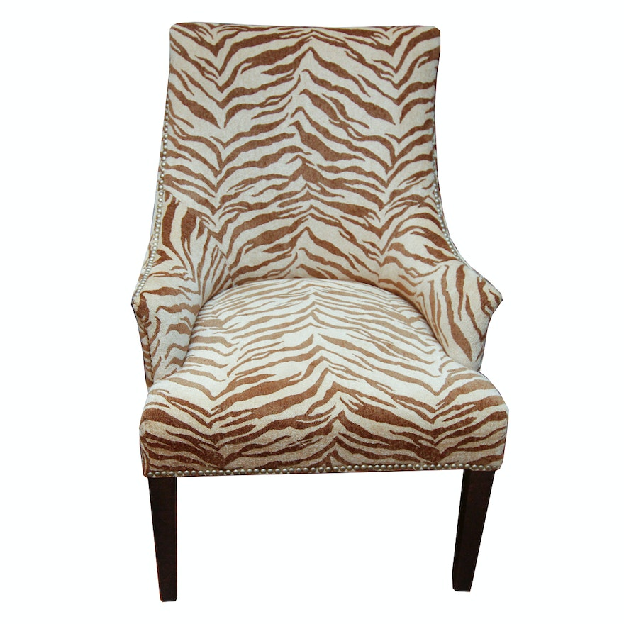 Hollywood Regency Style Upholstered Armchair | EBTH