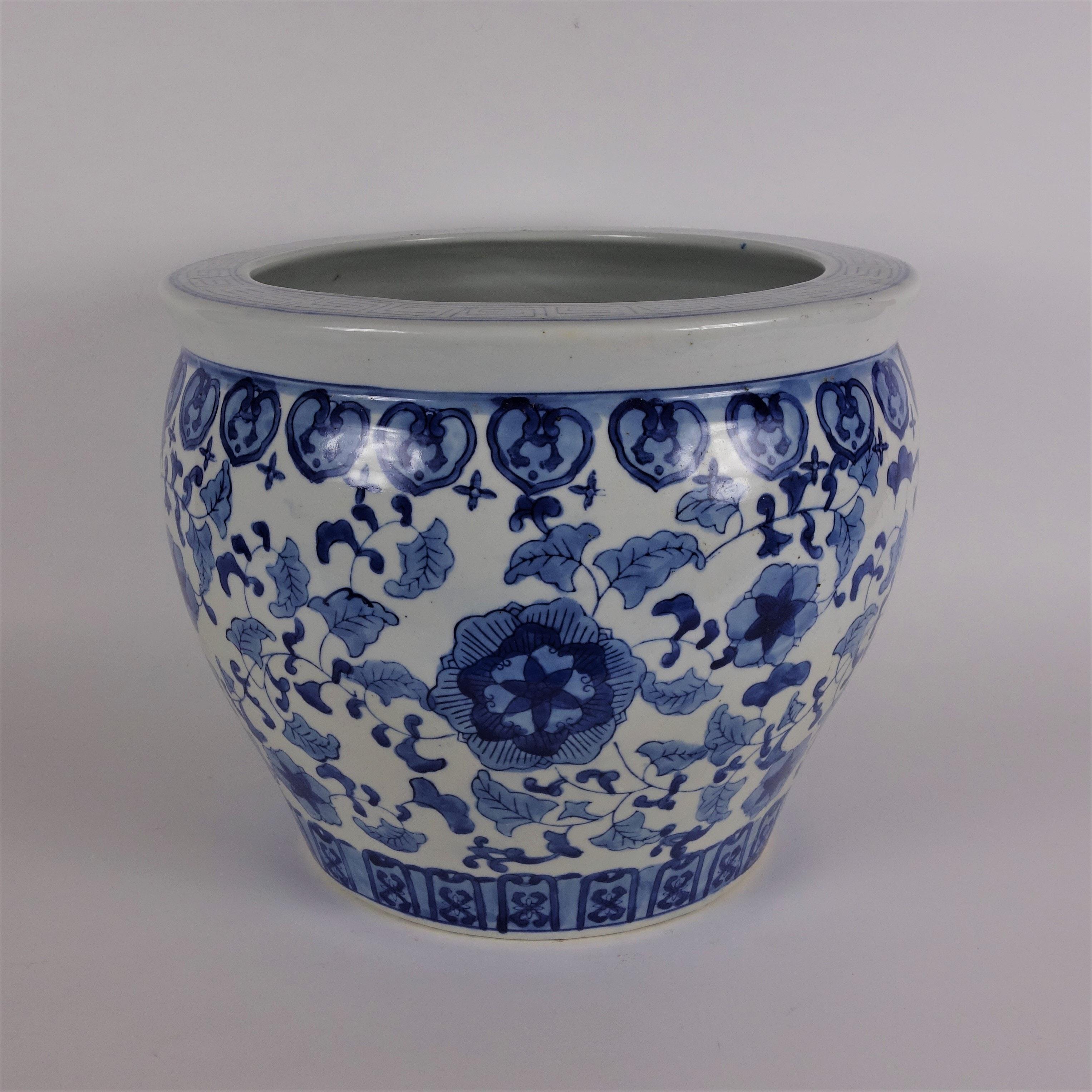 Asian Inspired Ceramic Flower Pot