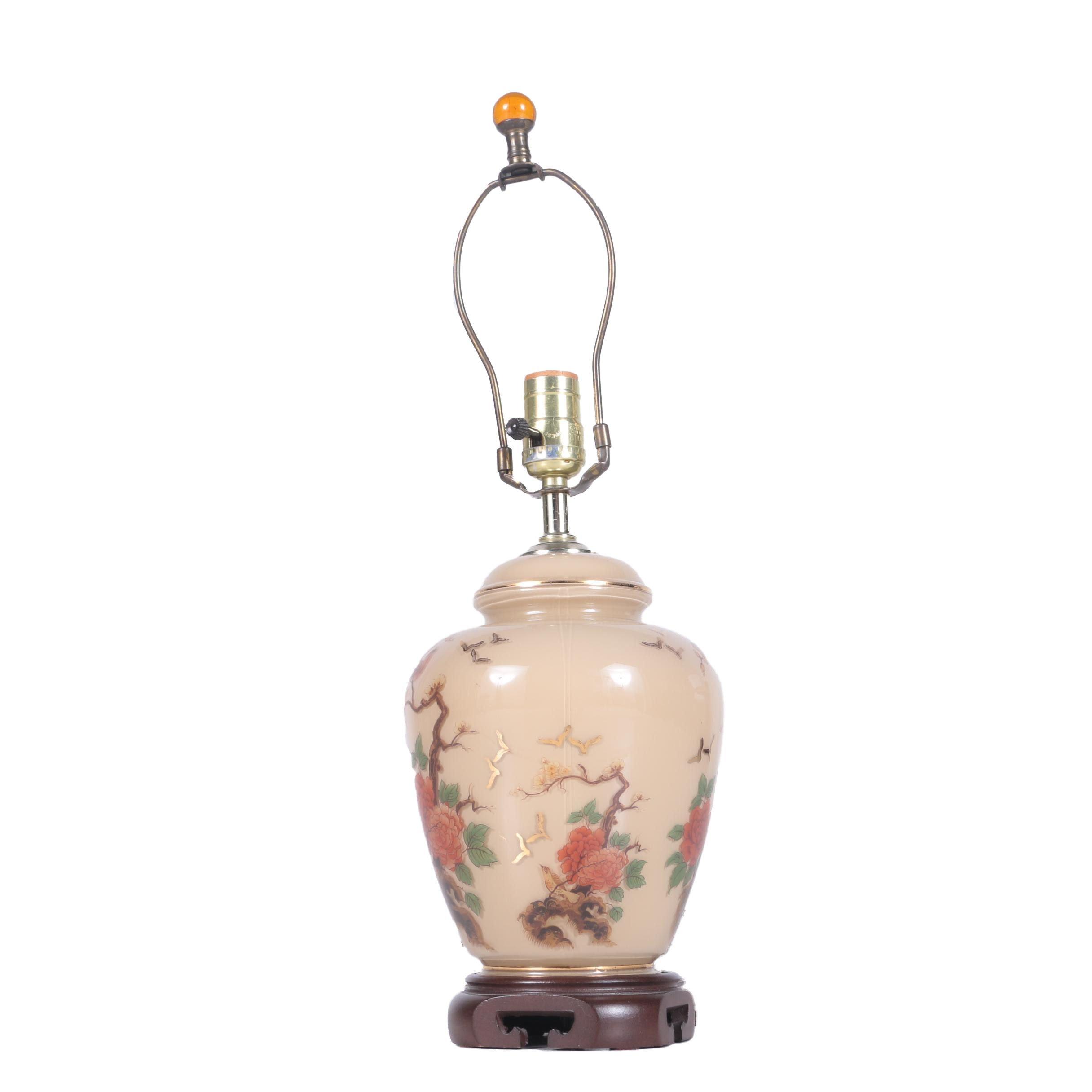 Glass Ginger Jar Table Lamp ...