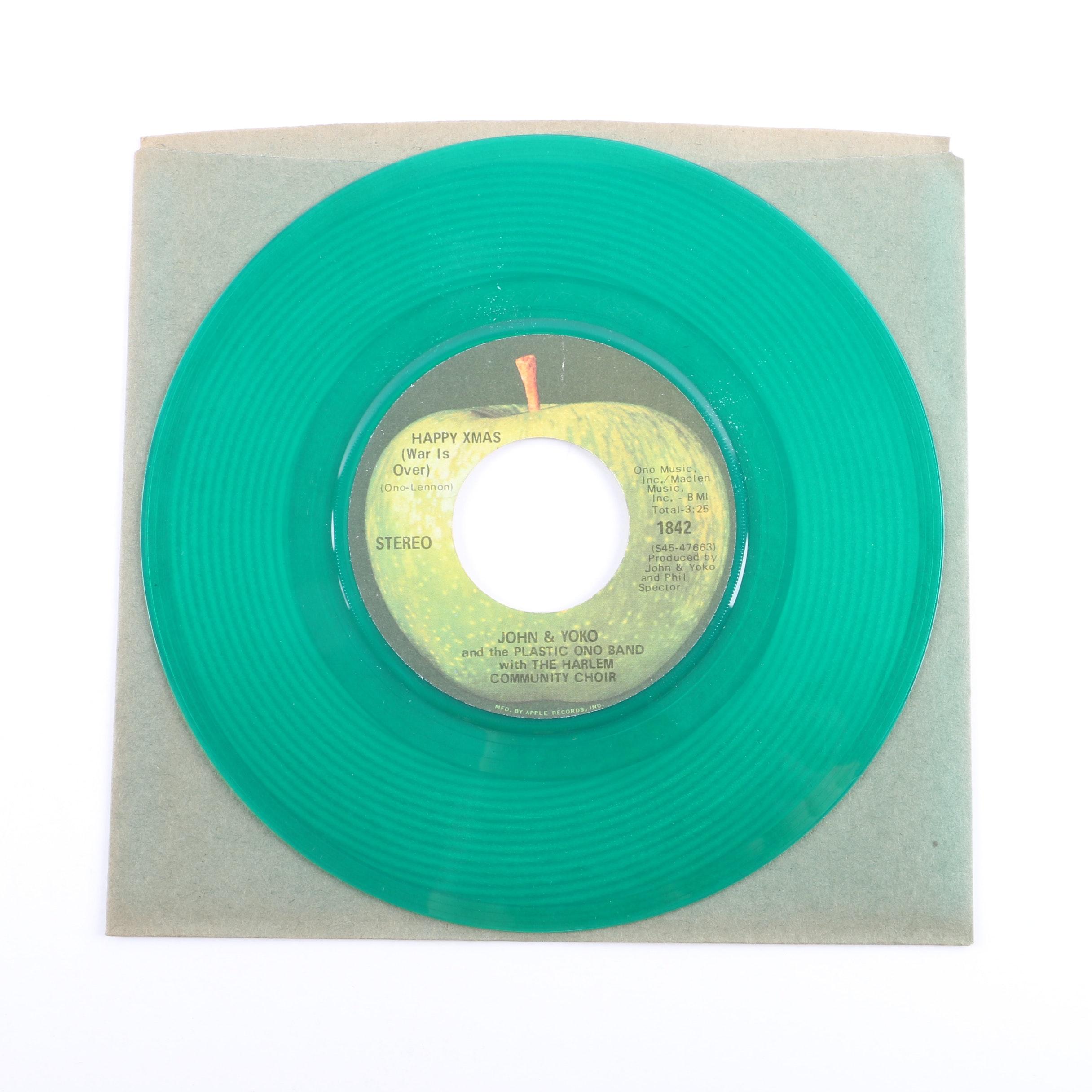 "John & Yoko / Plastic Ono Band ""Happy Xmas (War Is Over) 45 on Colored Vinyl"