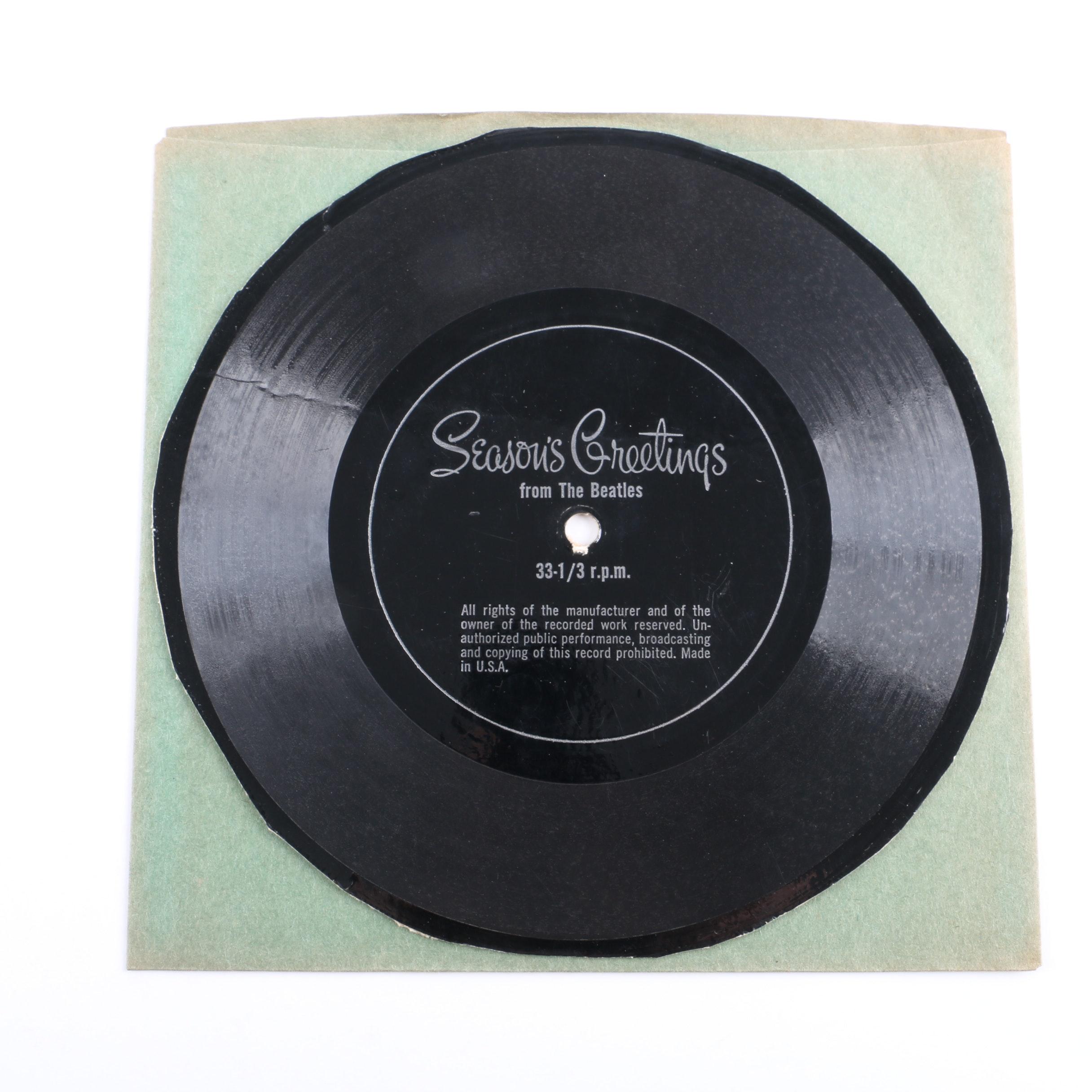 "The Beatles ""Season's Greetings"" 1967 Fan Club One-Sided Flexi Disc"