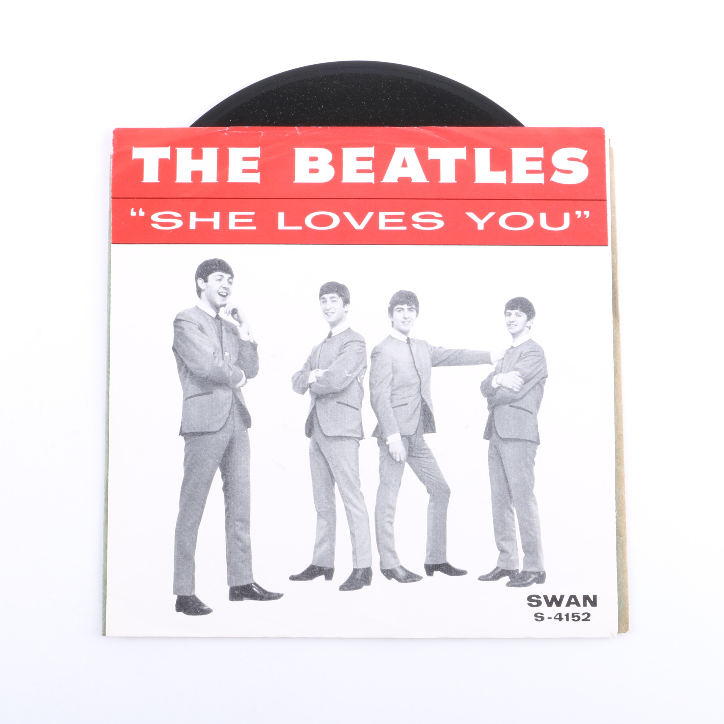 """The Beatles """"She Loves You"""" Original Swan Records 45"""