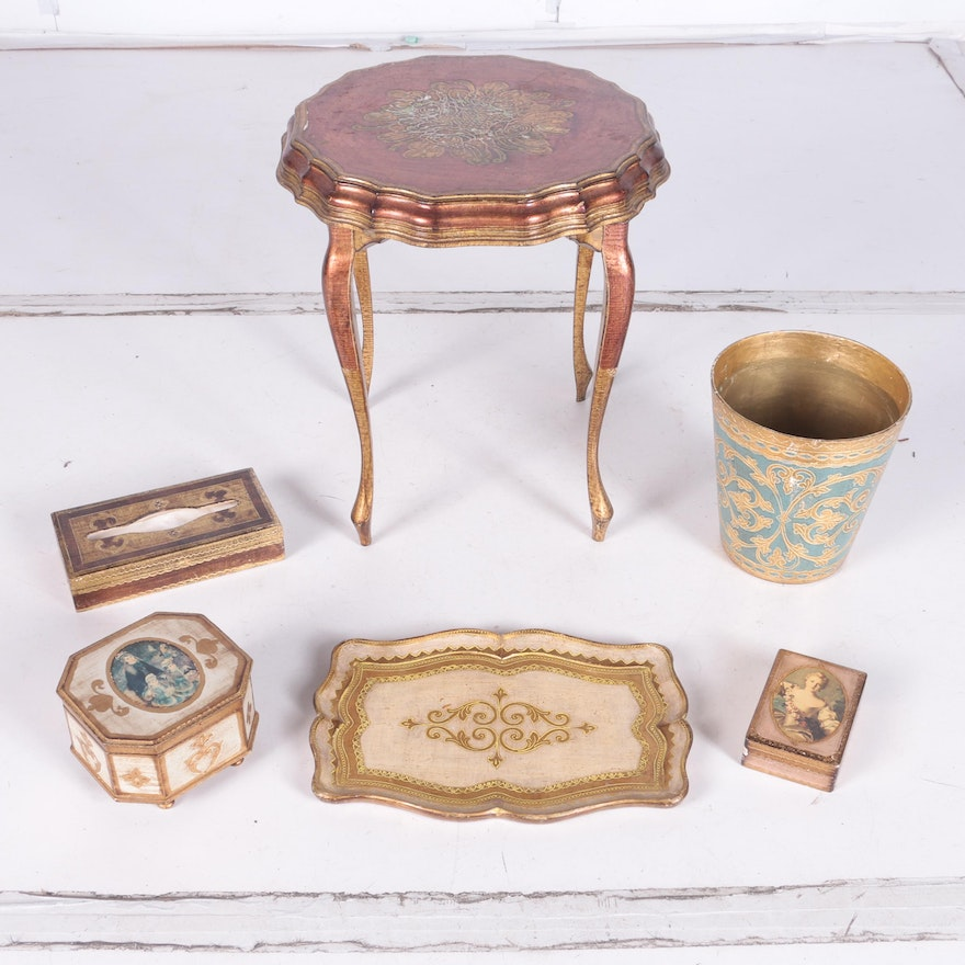 A collection of gilded rococo style italian florentine for Italian home decor