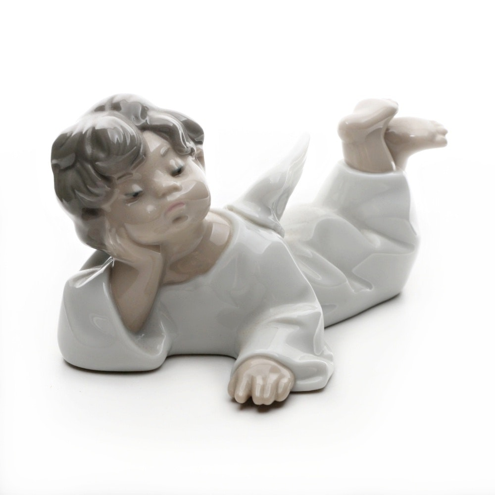 LLadro Porcelain Angel Figurine