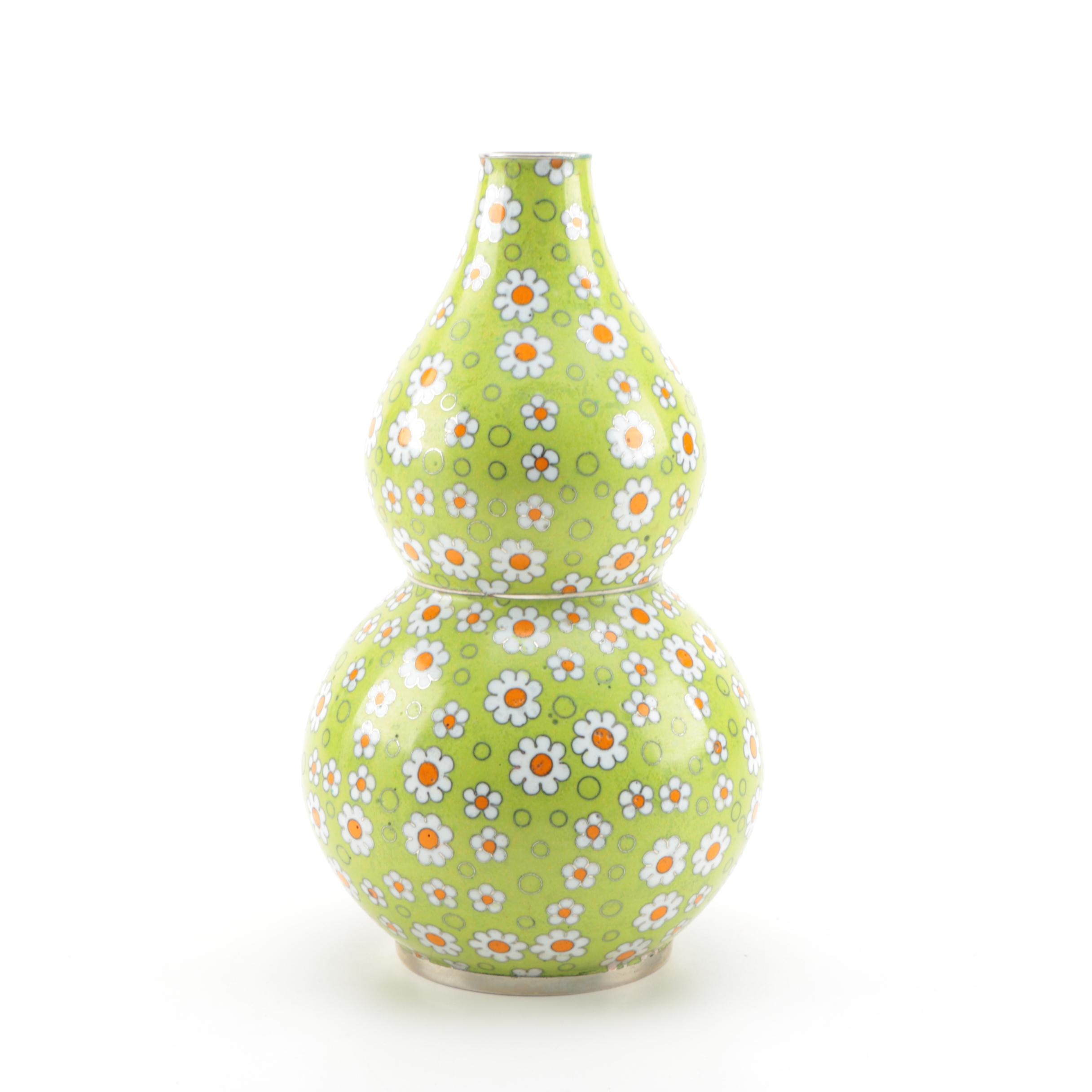 Cloisonné Double Gourd Daisy Pattern Vase