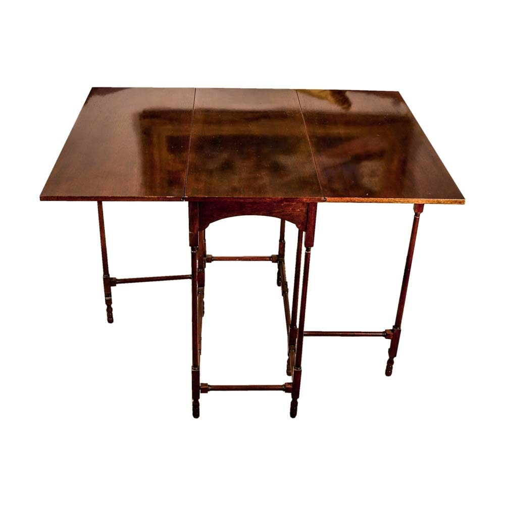 """Historic Charleston Reproductions"" Gate Leg Drop Leaf End Table by Baker"