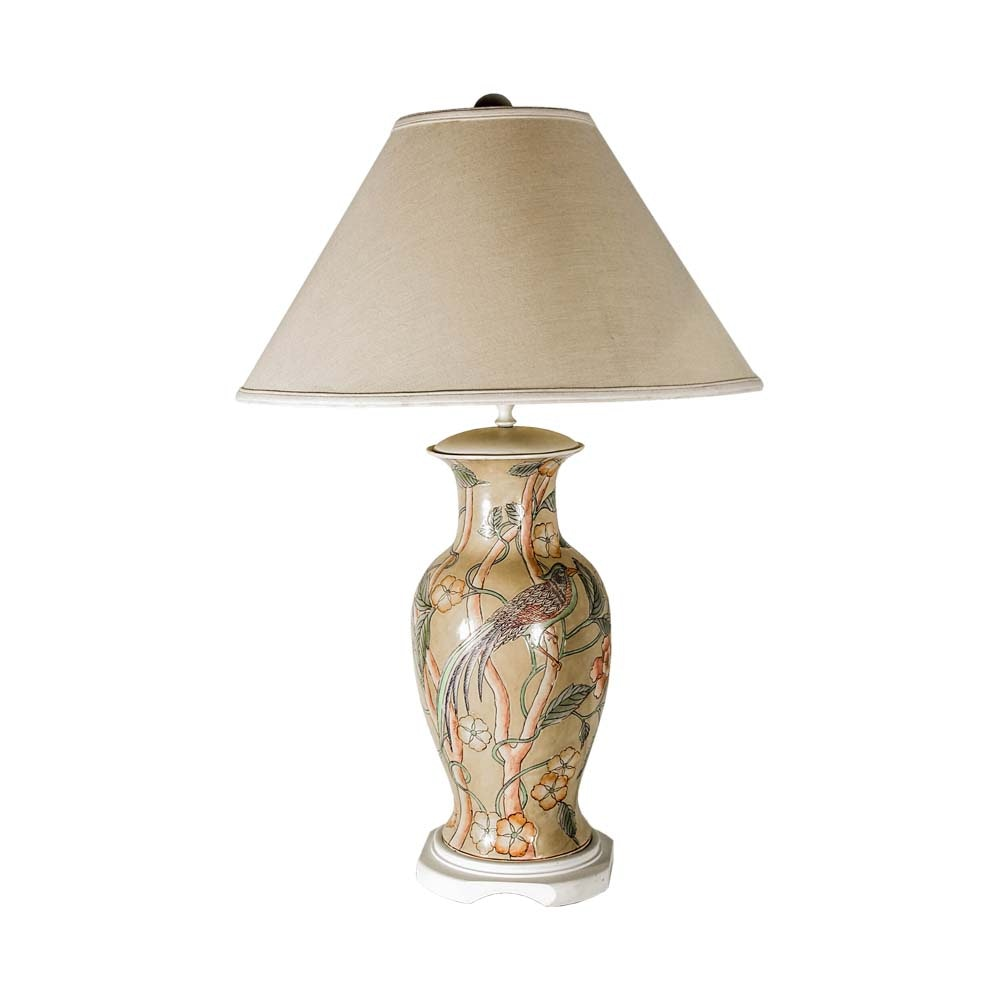 Ceramic Urn Shaped Table Lamp