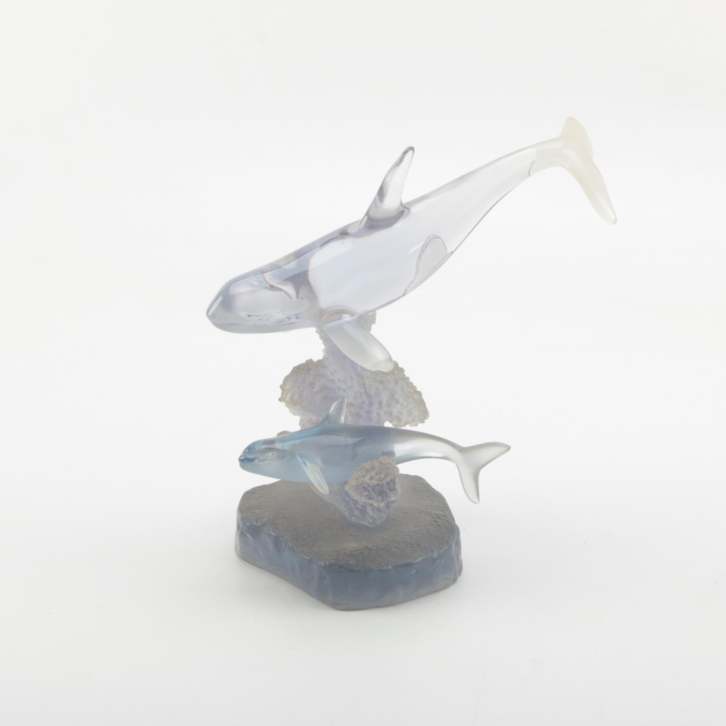 Wyland Acrylic Sculpture of Porpoises