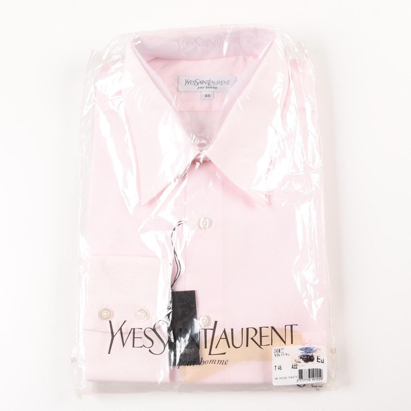 Pastel pink ysl men 39 s dress shirt ebth for Pastel pink dress shirt