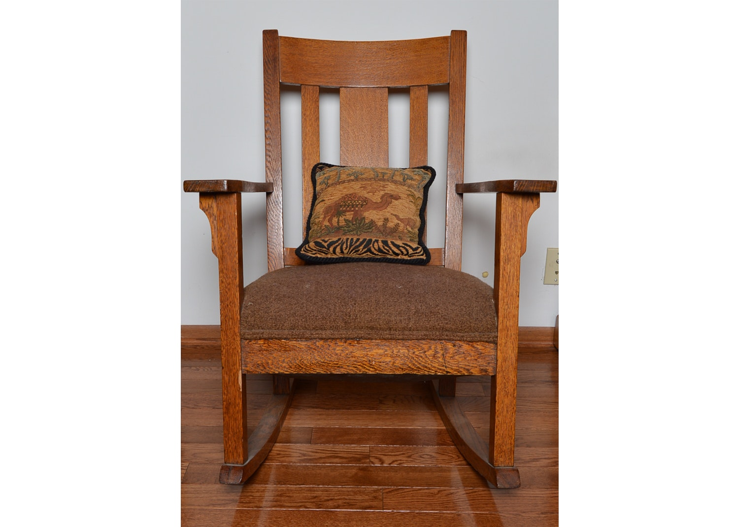 Arts and Crafts Oak Rocking Chair