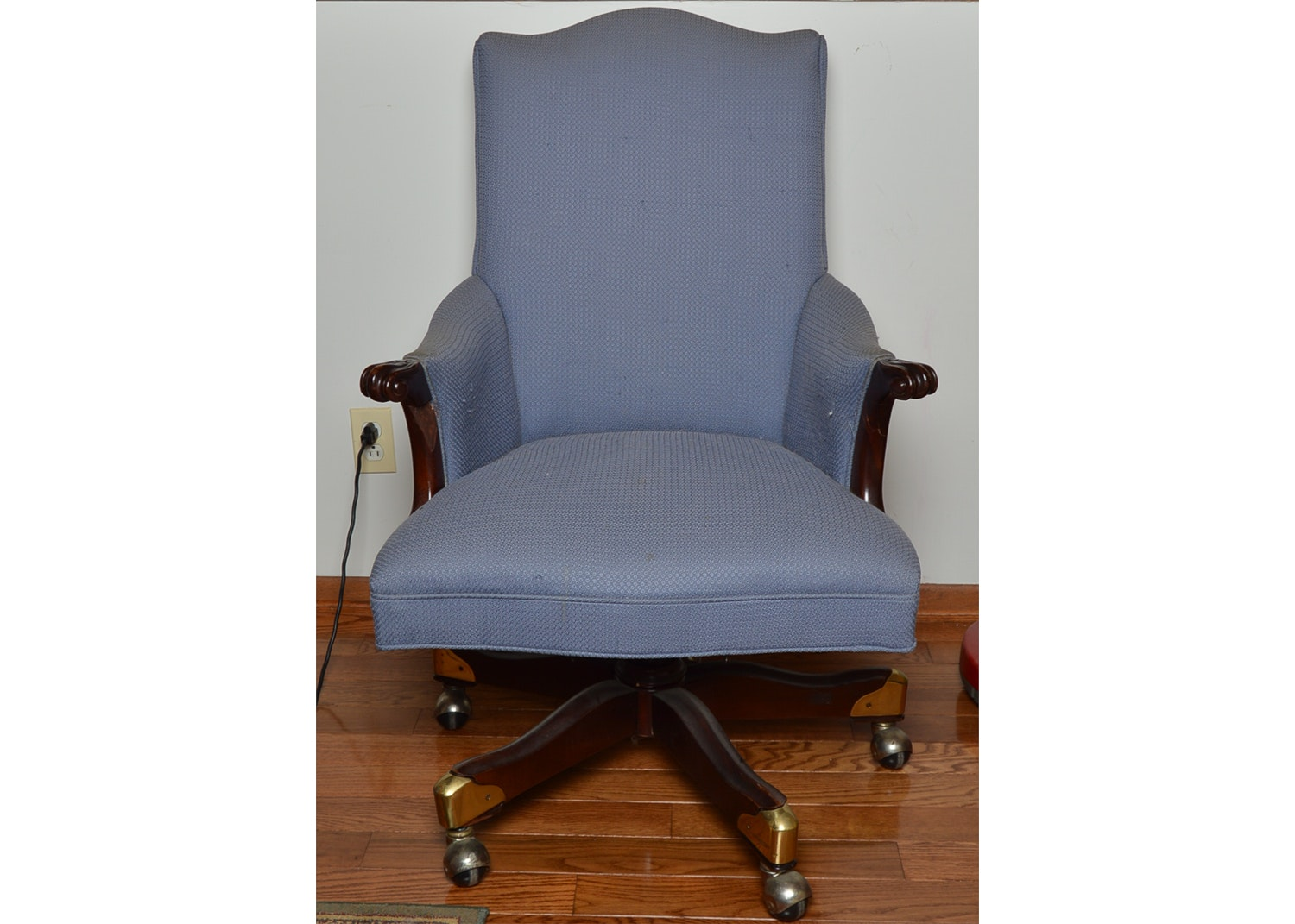 Upholstered Rolling Office Chair by Bernhardt