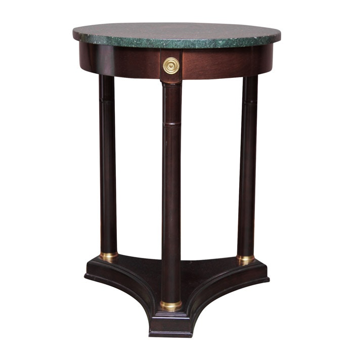 American Empire Inspired Marble Top Side Table