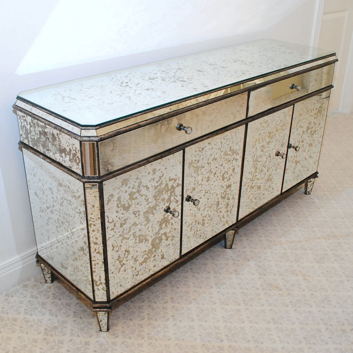 Modern Mirrored Credenza by Currey & Company