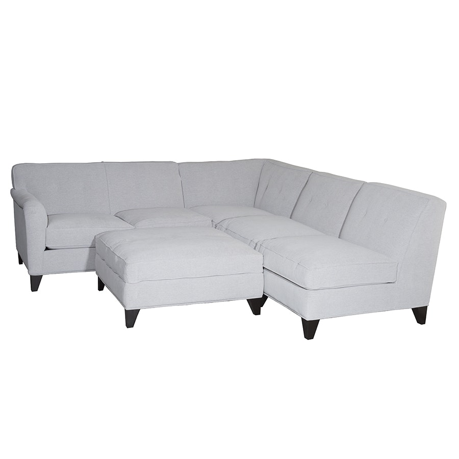 Sectional Sofa and Ottoman by Jonathan Louis Furniture