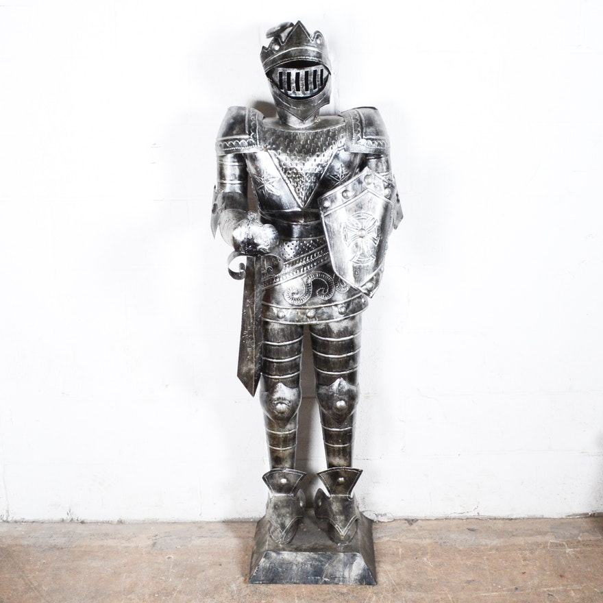 reproduction medieval suit of armor ebth
