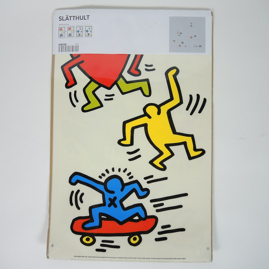keith haring ikea slÄtthult decorative wall stickers : ebth