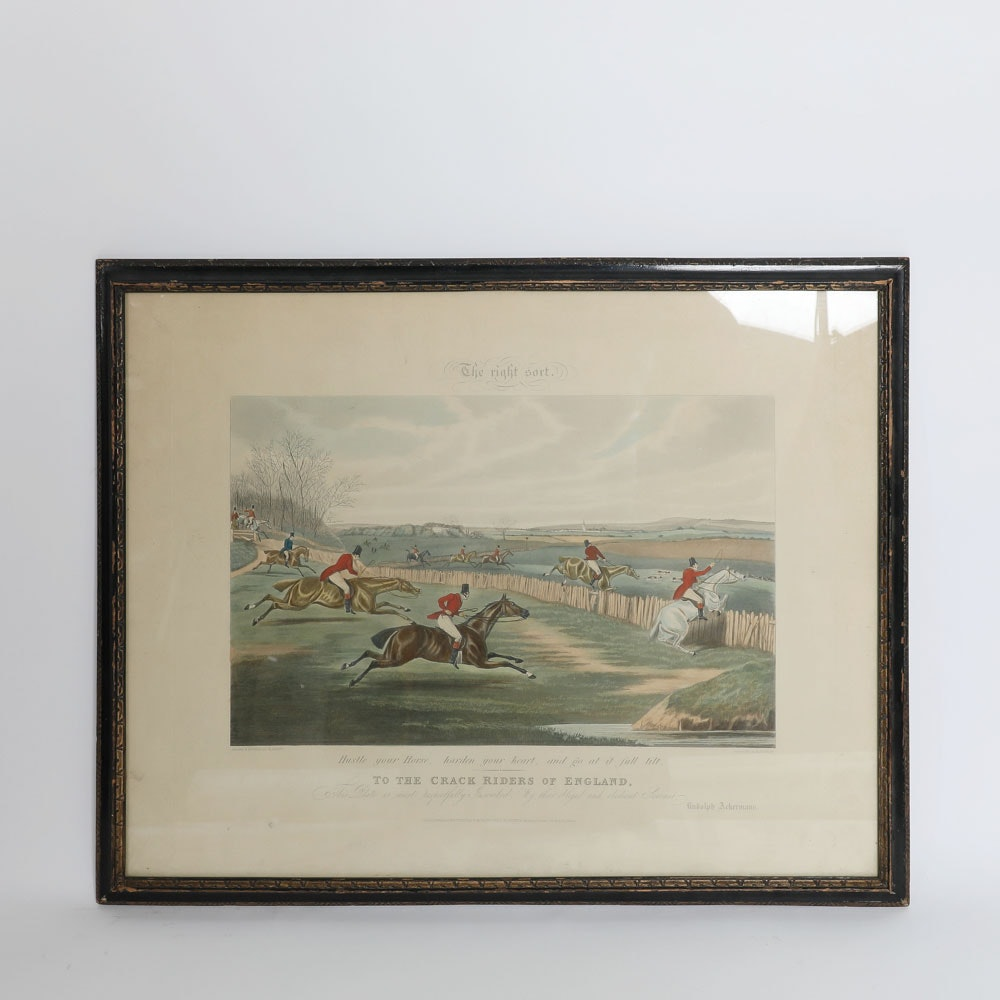 """Planographic Print on Paper After Henry Alken's """"The Right Sort"""""""
