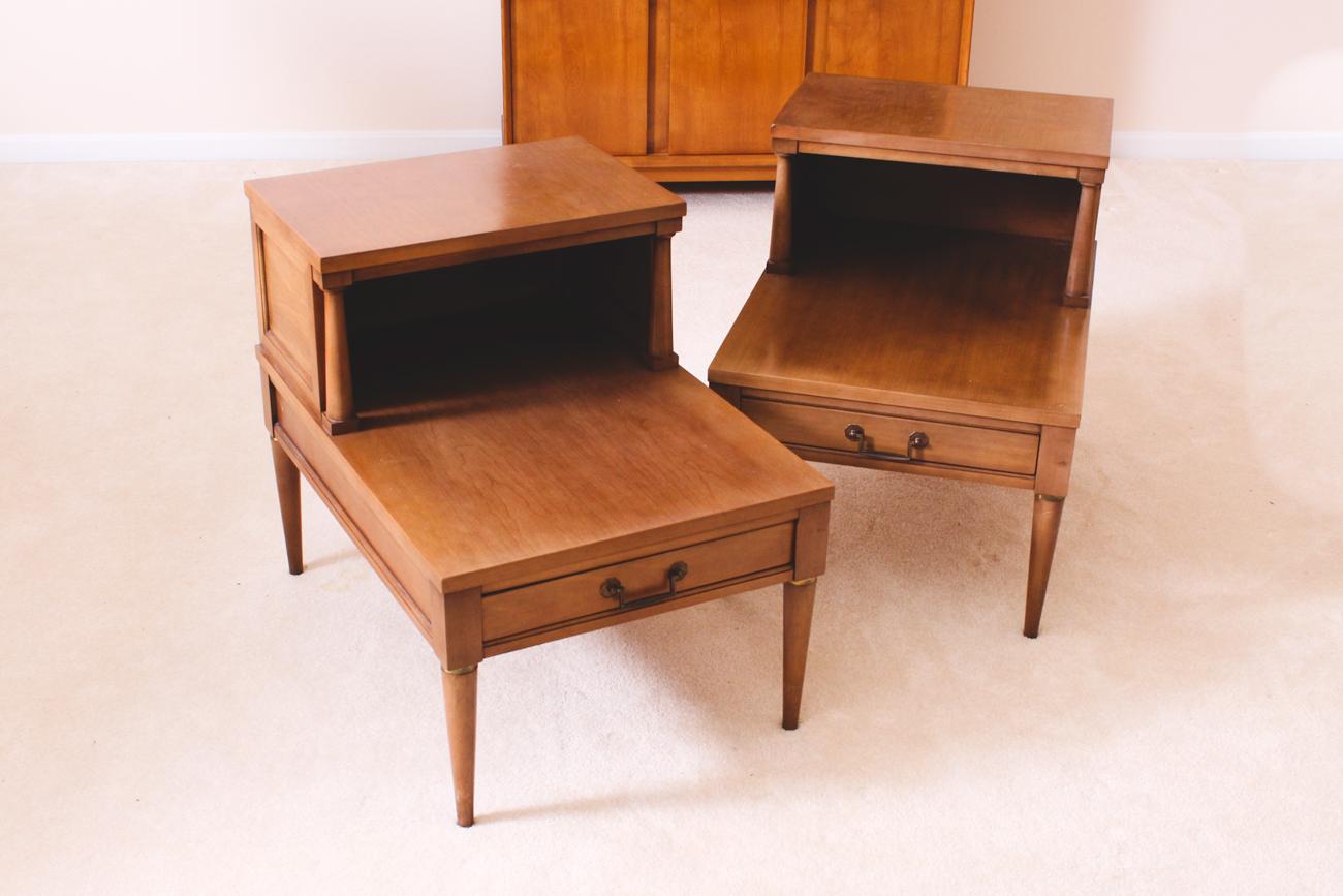 mid century end table Pair of Vintage Mid Century End Tables : EBTH mid century end table