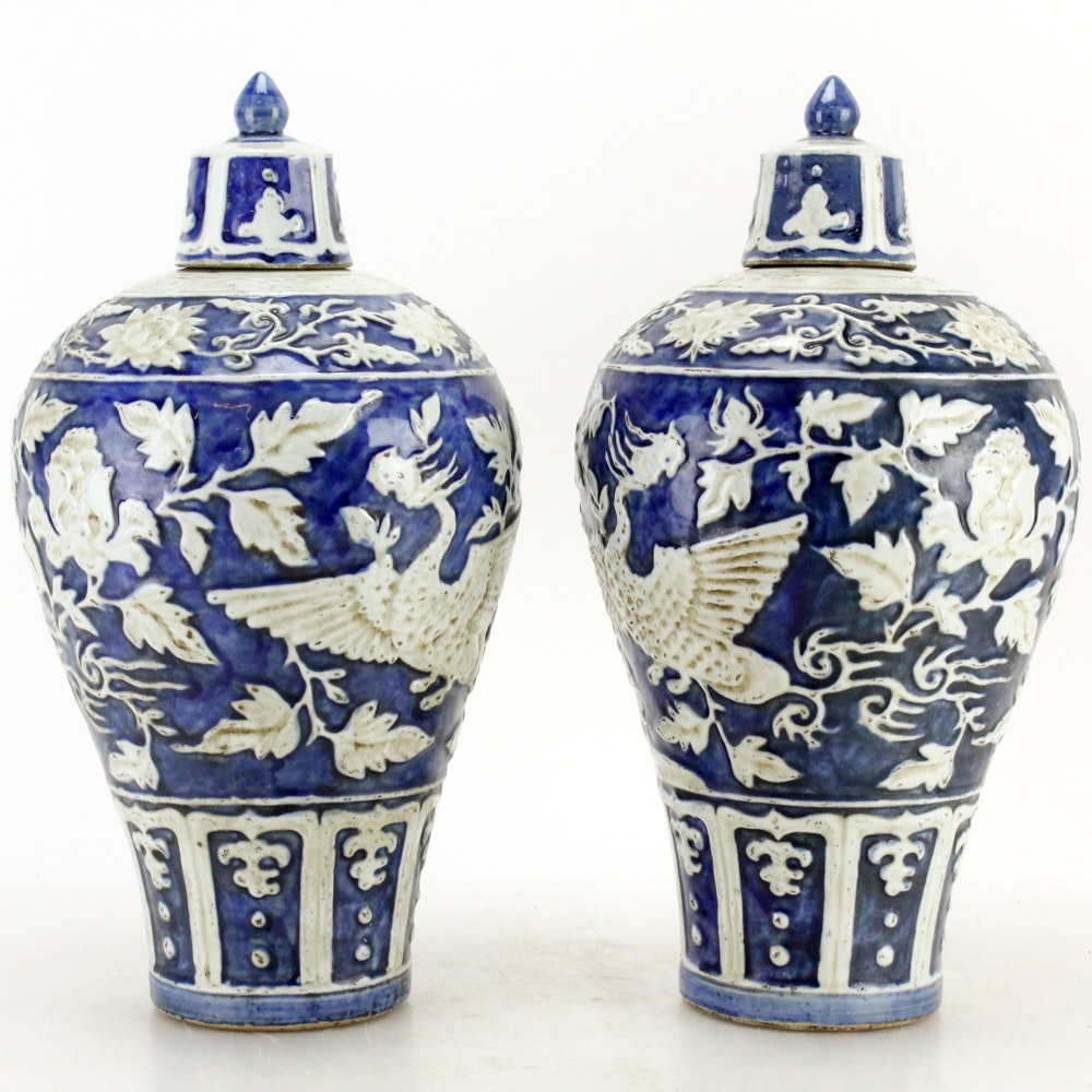 Chinese Ceramic Lidded Vessels