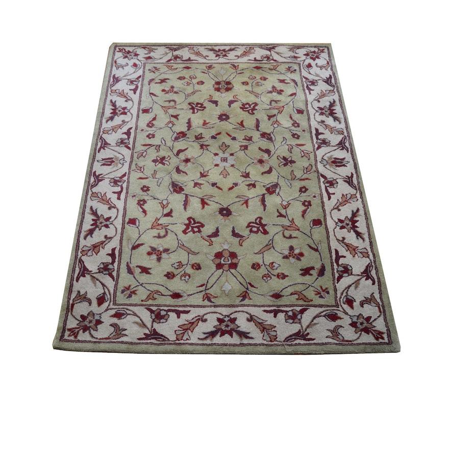 "Tufted Indo Persian Wool Area Rug Ebth: Marcella ""Oak Platinum Super Lancaster"" 100% Wool Tufted"