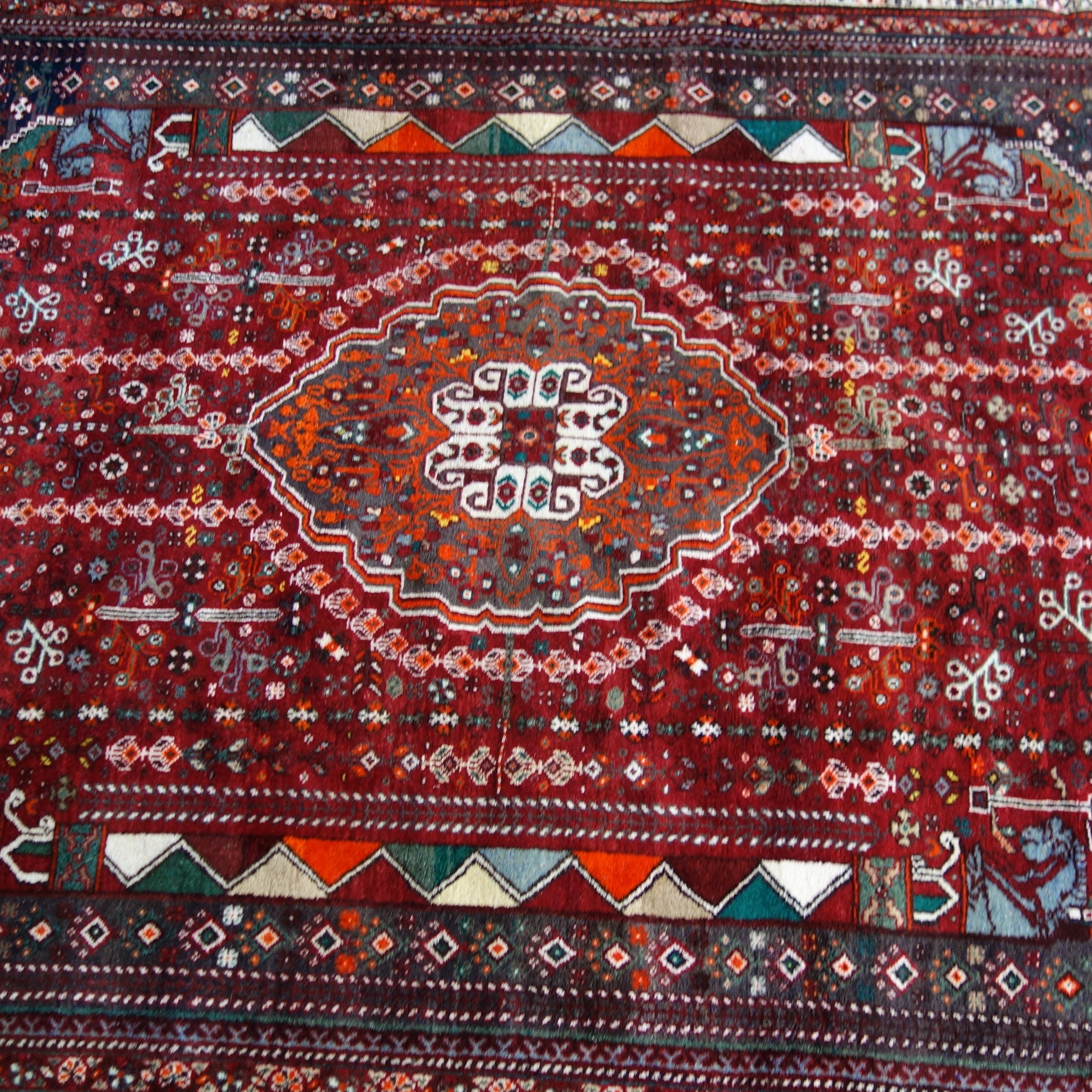 Hand-Knotted Pakistani Abadeh Wool Area Rug