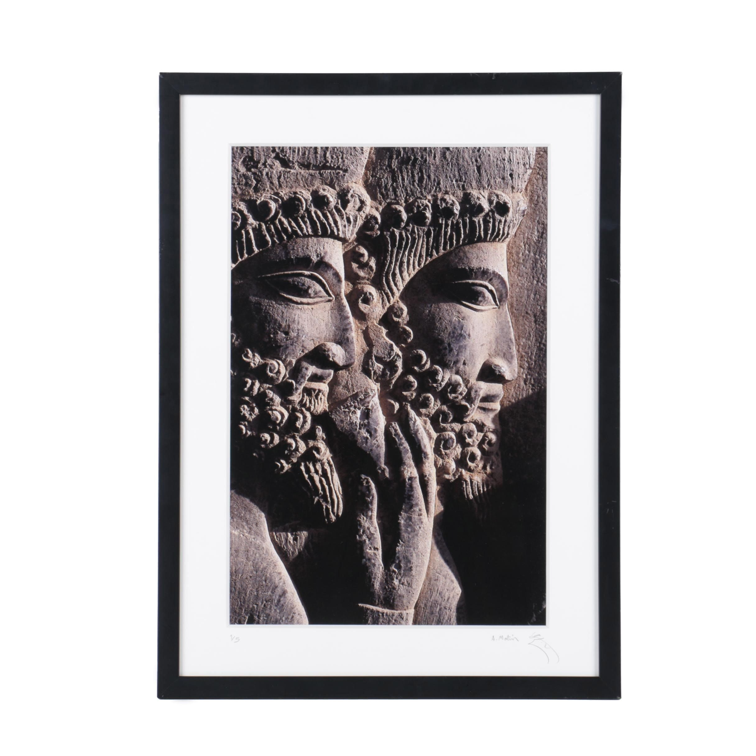 A. Matin Limited Edition Digital Photograph of Ancient Persian Relief