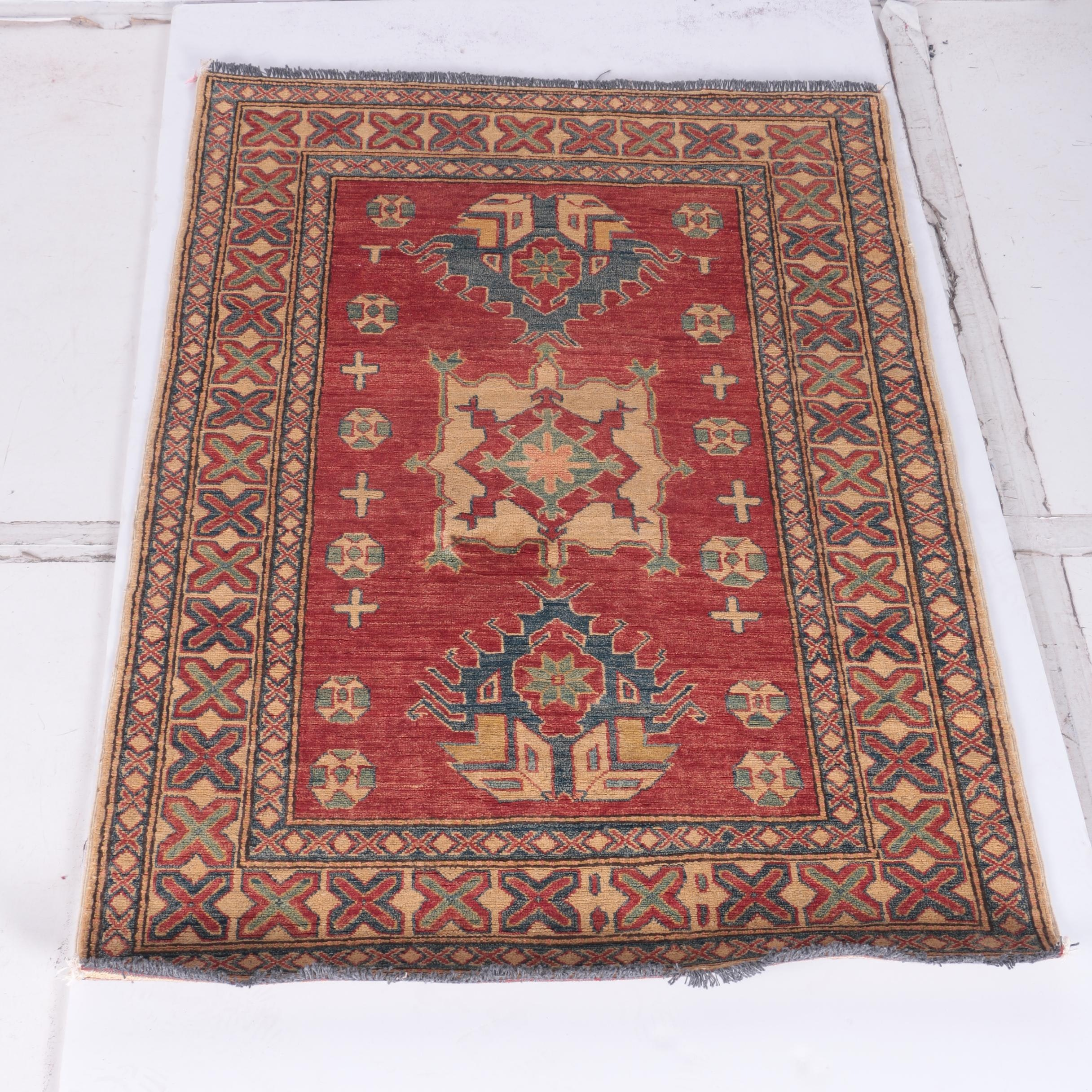 Hand-Knotted Indo-Caucasian Area Rug